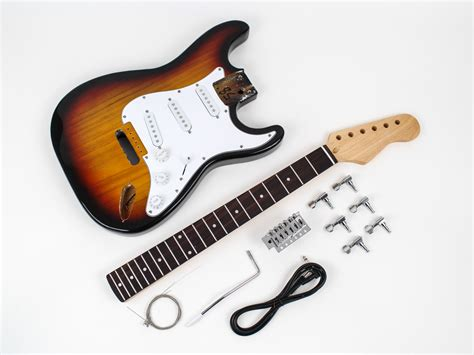 fenstermaße fender stratocaster diy guitar kit prefinished sunburst