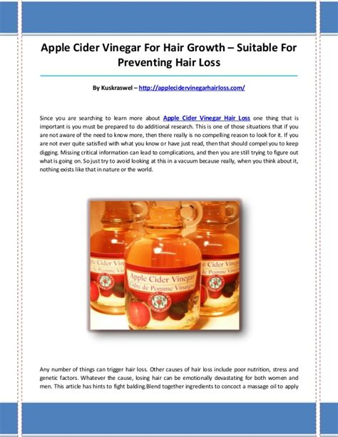 apple vinegar for hair loss apple cider vinegar hair loss