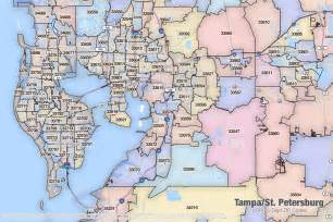 Tampa Fl Zip Code Map by Tampa St Petersburg Florida Printable U S Zip Code