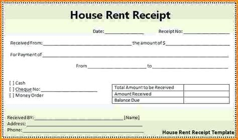 rent receipts template word rent receipt format rent