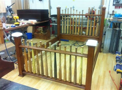 baseball bat bed baseball bat bed by les hastings lumberjocks com