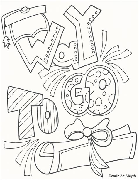 coloring pages for kindergarten graduation graduation coloring pages doodle alley