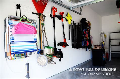 storing sofa in garage how to organize the garage a bowl full of lemons