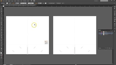 pocket folder template illustrator how to set up a presentation folder in adobe illustrator
