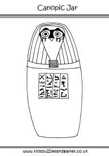 doodle god jar fancy portrait about canopic jar coloring page farms