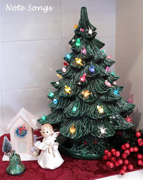 ceramic christmas trees note songs vintage ceramic tree