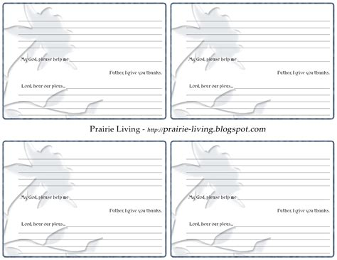 free printable prayer cards template 7 best images of printable prayer request template