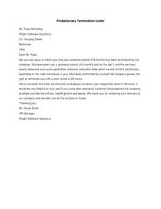 probationary period template probationary termination letter hashdoc
