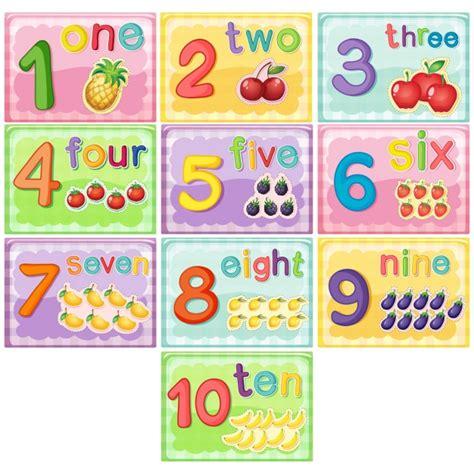 for children numbers for children vector premium