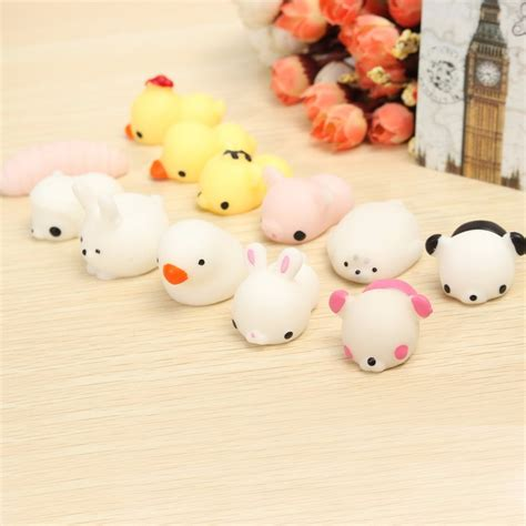 Buy Cheap Home Decor by 6pcs Mochi Chicken Duck Tiger Bear Seal Squeeze Squishy