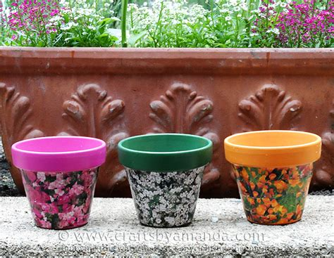 Decoupage Clay Pots Ideas - check out seed packet decoupage clay pots it s so easy to