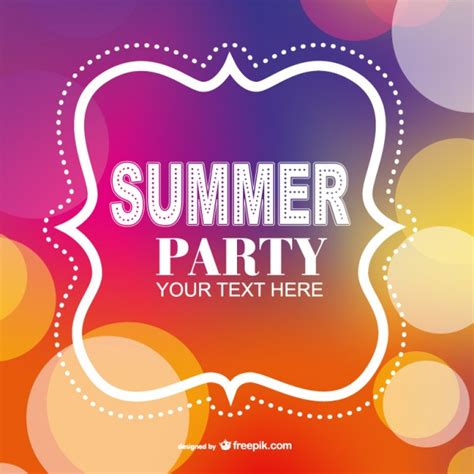summer party poster invitation template vector free download