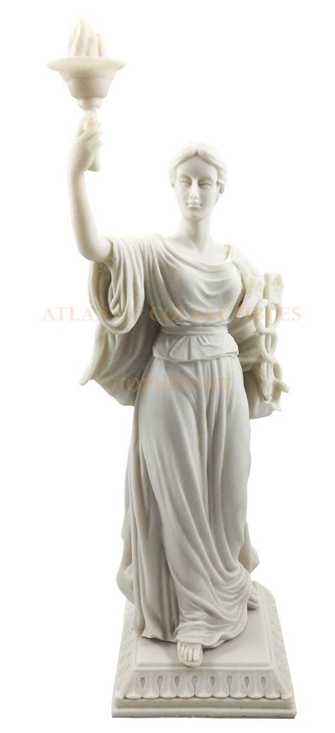 white goddess of health hygieia statue hygea