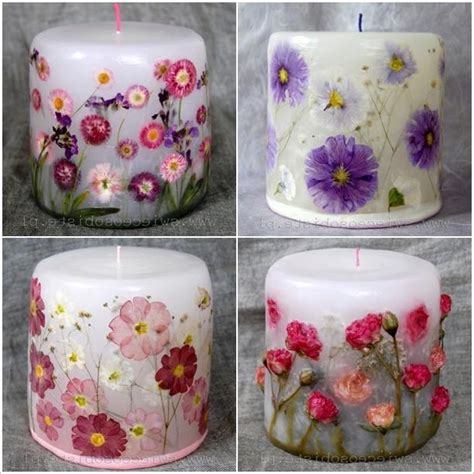 Decoupage Candles - decoupage photos on candles