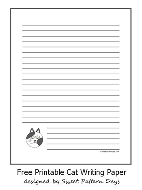 cat writing paper 128 best images about stationery printables on