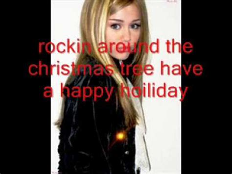 hannah montana rockin around the christmas tree song