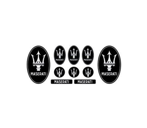 black maserati png maserati black domed emblems