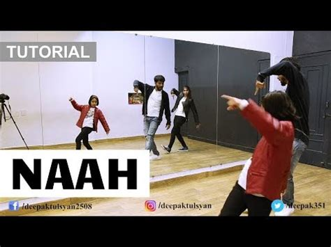 dance tutorial in hindi learn how to dance on quot naah quot step by step bollywood