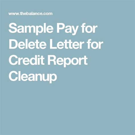 Pay For Deletion Credit Letter 153 best credit repair images on credit