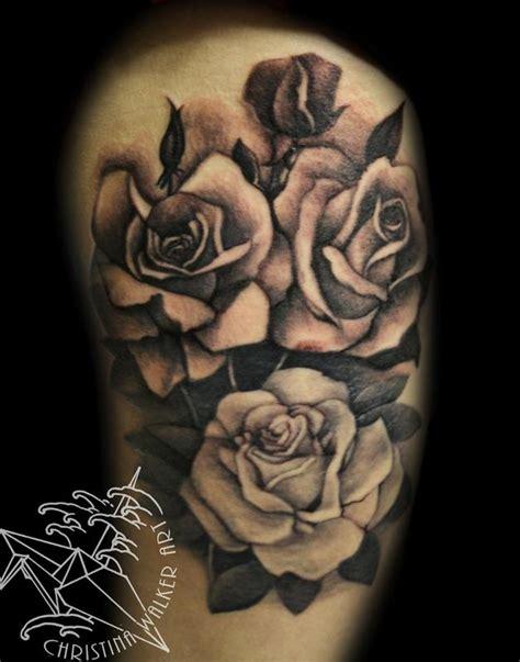 black n grey rose tattoos lucky bamboo tattoos walker black