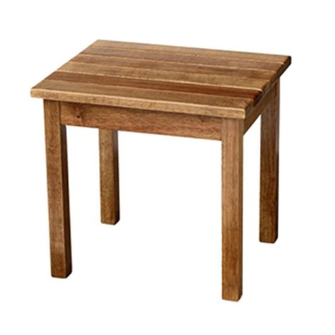 Maple Patio Side Table 50etm Rta The Home Depot Patio Side Tables