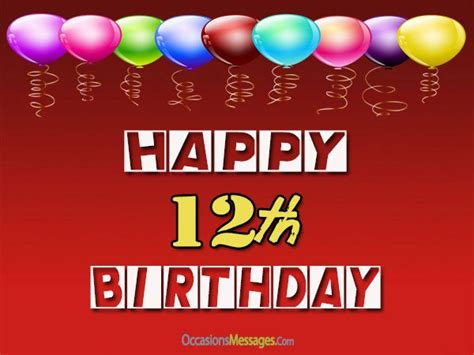 Happy 12th Birthday Wishes Happy 12th Birthday Wishes Occasions Messages