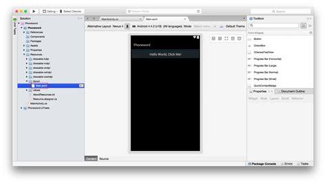 xamarin open layout hello android quickstart xamarin