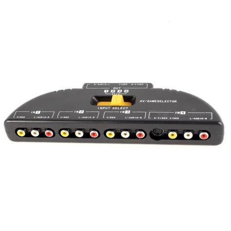 Promo Promo Promo 3 Way Av Switcher Selector Multi Av Switch Merk Suoe 4 way audio av rca switch selector box splitter black free shipping dealextreme