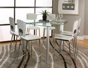 Home gt decor gt furniture gt dinette sets gt sirius 7pc glass counter