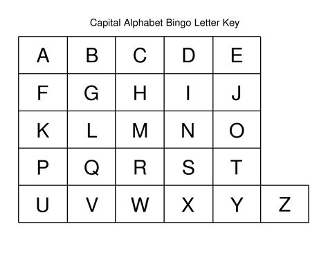 printable alphabet letters uppercase 4 best images of printable alphabet capital letters