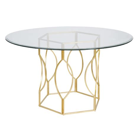 gold base dining table away abigail gold dining table base w 54 quot dia