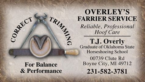 farrier business card templates custom business cards hoof trimming tools design www
