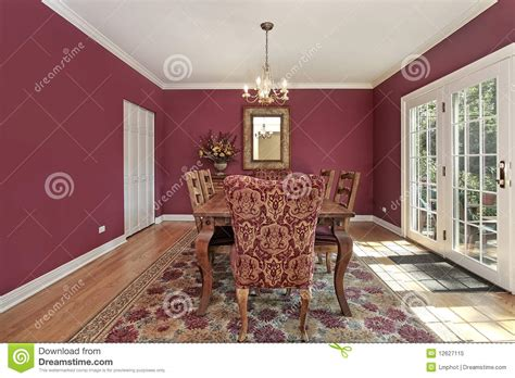 red dining room walls dining room with red walls royalty free stock photo