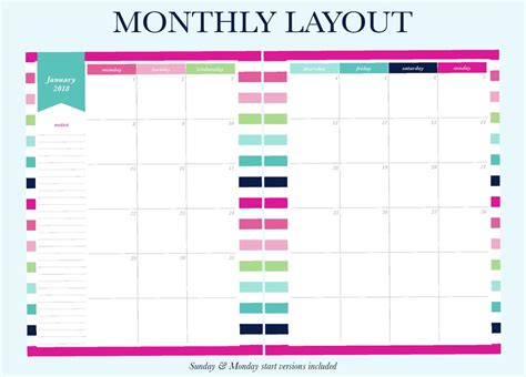 printable planner layout finally a planner that matches your planning needs