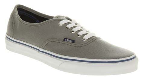 Vans Authentic Port Grey Blue vans authentic in gray for save 66 lyst