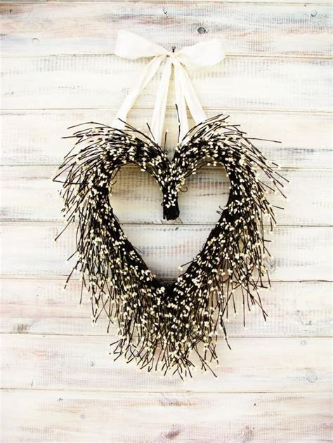 Valentine Wreath Wedding Wreath Heart Wreath Wedding Decor