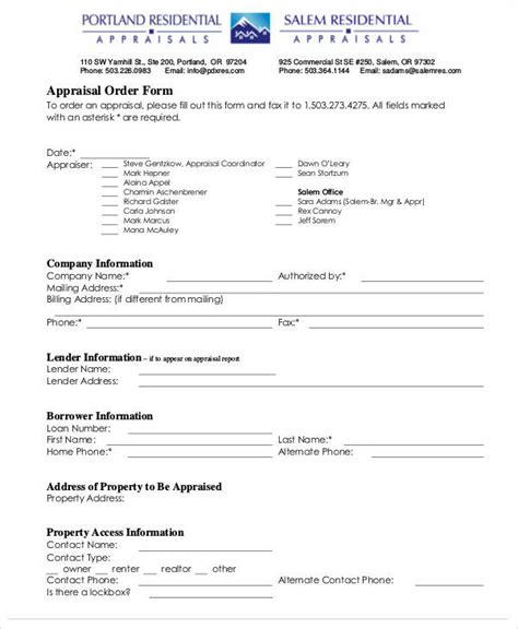 29 Appraisal Forms In Pdf Sle Templates Commercial Appraisal Review Template