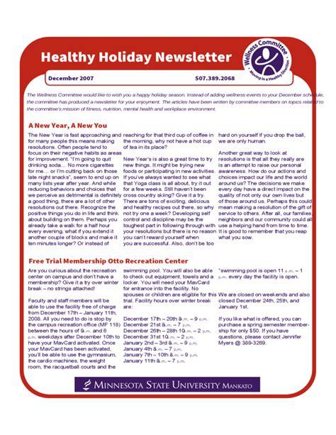 winter newsletter templates healthy newsletter free
