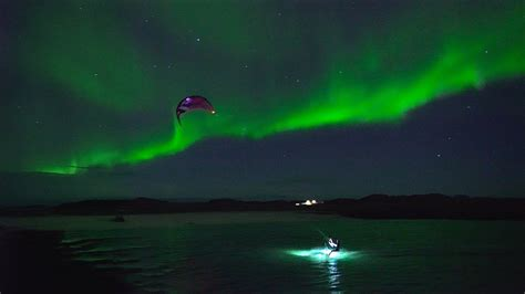 tromso northern lights kiting the northern lights in troms 248