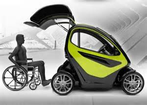 Electric Car Designed For Wheelchairs Absolute Mobility Firm Designs Concept Car For Disabled