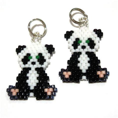 Seed Bead Panda Charm By Beadcrumbs On Etsy