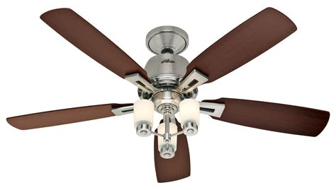 hunter brushed nickel ceiling fan fan junglekey fr image