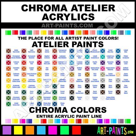 chroma atelier acrylic paint colors chroma atelier paint