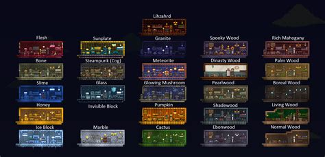 Terraria Furniture by Complete Furniture Houses For Self Guide I Did In