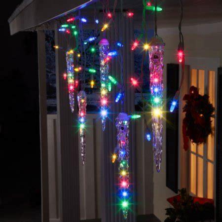 shooting star icicle lights walmart gemmy lightshow christmas lights 87 count led