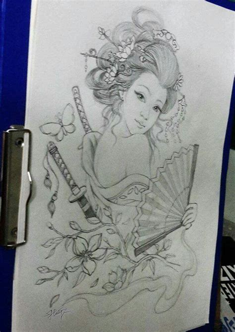 geisha tattoo images amp designs