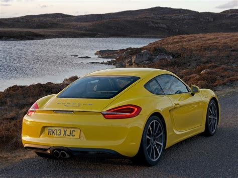 porsche cayman yellow wallpaper porsche cayman s yellow rear view hd