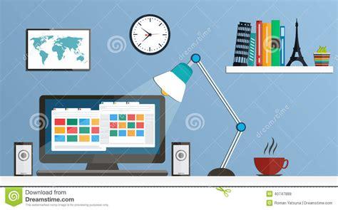 design windows icon flat design desktop workspace stock vector image 40747888