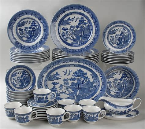 willow pattern english china willow blue by johnson brothers at replacements ltd