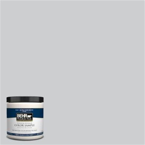 behr premium plus 8 oz pph 43 gray pearl interior exterior paint sle pph 43 pp the home depot